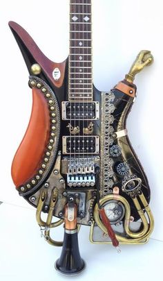 亗 Dr. Emporio Efikz 亗 | Steampunk Guitar Custom Made by Carlos4728  #DIY #Steampunk #Guitar