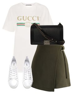 """Untitled #3314"" by theeuropeancloset on Polyvore featuring Gucci, Chicwish, H&M and Chanel"
