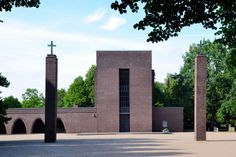 Prayer Hall (1925-26) on South-West-Cemetery in Essen, Germany, by Ernst Bode