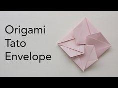 Easy Origami Tato Envelope Tutorial - Wedding / Birthday / Events Paper Invitation - YouTube Origami Ball, Diy Origami, Origami Paper, Origami Boxes, Oragami, Origami Tattoo, Origami Flowers Tutorial, Origami Instructions, Origami Envelope Easy