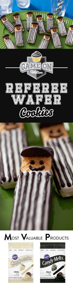 How to Make Referee Wafer Cookies - It's so easy to make these adorable referee…