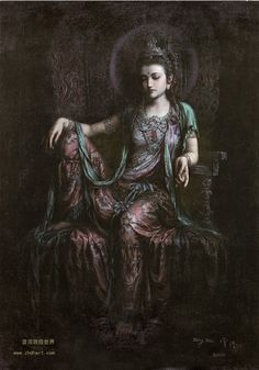 Kuan Yin by Zeng Hao. Kuan Yin, beloved goddess of over a billion people the world over. Her name too signifies her compassionate nature, literally meaning 'One who hears the cries of the world.'
