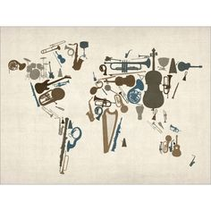 musical instruments world map
