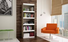 Parana Tobacco Bookcase Manhattan Comfort Free Standing Shelves & Bookcases Home Office Fu Modern Home Office Furniture, Home Furniture, Living Room Furniture, Modern Bookcase, Furniture Deals, Home And Living, Interior, Manhattan, Home Decor