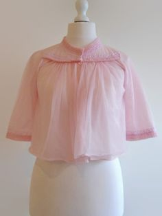Vintage 1960s ruffled pink bed jacket by RumpusAndClinch on Etsy, £18.00