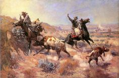 Charles Marion Russell >> A Serious Predicament