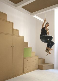Idée mezzanine + corde ! Mais oui !!