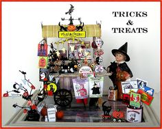 Printables  and patterns to make everything you see........DYI DOLLHOUSE MINIATURES: A HALLOWEEN PEDDLER'S CART