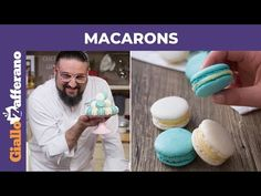 MACARONS: la ricetta di Roberto Rinaldini - YouTube Macarons, Mini Pastries, Affogato, Biscuit Cake, Melt In Your Mouth, Food Illustrations, Cookie Recipes, Cake Pops, Food And Drink