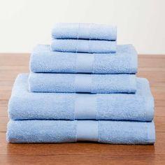 Light Blue Deluxe Six-Piece Cotton Towel Set $39.95