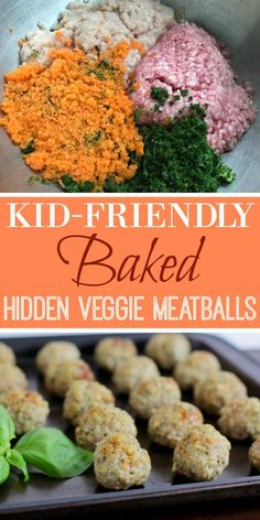 Kid-Friendly Hidden Vegetable Baked Meatballs 2019 Loved the baked meatballs so many vegetables! Great food for picky eaters! Easy lunch box idea too. Five stars! The post Kid-Friendly Hidden Vegetable Baked Meatballs 2019 appeared first on Lunch Diy. Healthy Toddler Meals, Healthy Meal Prep, Healthy Snacks, Toddler Recipes Healthy, Toddler Dinner Recipes, Easy Kids Meals, Nice Meals, Toddler Finger Foods, Hidden Vegetables
