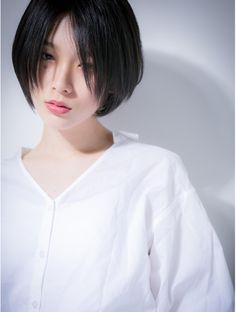 * bliss Ageo * Mode and cool with black hair ♪ Adult bob z: . Asian Short Hair, Asian Hair, Short Hair Cuts, Bts Hairstyle, Tomboy Hairstyles, Short Bob Haircuts, Short Hairstyles For Women, Cut My Hair, New Hair