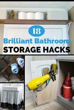 Organizing the bath can be as easy as finding underutilized real estate and repurposing it into crafty compartments for all of your bath goodies. Soak up these 18 sleek storage ideas, designed for spacious and space-challenged bathrooms alike!