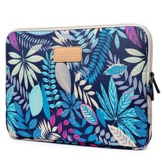 CoolBell 13.3 Inch Laptop Sleeve Case With Colorful Leaves Pattern Ultrabook Sleeve Macbook Bag For Acer/Asus/Dell/iPad Pro/Lenovo/Macbook Pro/Macbook Air/Surface Pro 4/Women/Men/Teens,Blue: $12.99