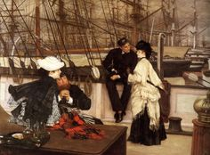 The Captain and the Mate, 1873 by James Tissot. Realism. genre painting. Private Collection