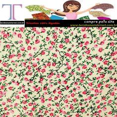 tecidos para patchwork tricoline floral