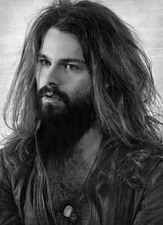präsentiert von www.my-hair-and-me.de #men #hair #haare #long #lang #black #and #white #beard #bart