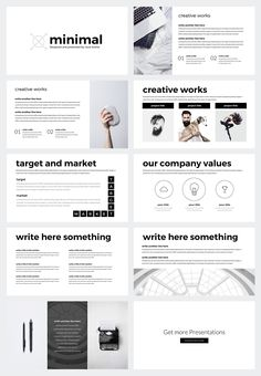 Portal modern powerpoint template by thrivisualy on creativemarket in this free minimal powerpoint template you will find simple but very useful slides for your presentation toneelgroepblik Image collections