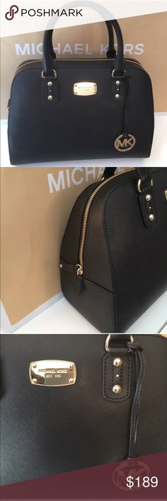MICHAEL KORS LARGE SHOULDER/CROSSBODY AUTH MICHAEL KORS LARGE SHOULDER/ CROSSBODY BAG 100% AUTHENTIC. AO STUNNING AND STYLISH PERFECT FOR ANY OCCASION . THIS IS THE LARGEST OF THIS MODEL. VERY IMPRESSIVE BAG USED ONLY ONE TIME! IT HAS 5 LARGE INTERIOR WALL POCKETS AND 1 REAR OUTSIDE POCKET. IT MEASURES 13 INCHES WIDE BY 10 INCHES TALL AND VERY DEEP. COMES WITH A LONG REMOVABLE AND ADJUSTABLE SHOULDER/ CROSSBODY STRAP Michael Kors Bags Crossbody Bags