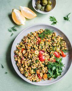 Instant Pot Pearl Couscous and Lentil Salad Lentil Recipes, Vegetarian Recipes, Salad Recipes, Healthy Recipes, Instant Pot, Pearl Couscous, French Green Lentils, Lentil Dishes, Lentil Salad