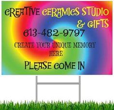 Creative Ceramics Studio 134 Tartan Drive Nepean, ON 613-482-9797