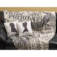 Pride and Prejudice throw/ pillows #janeausten