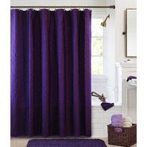 Overstock.com - Lush Decor Mia Purple/ Grey Shower Curtain - This ...