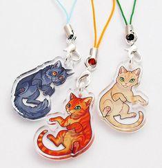 Warrior Cats acrylic mini charms