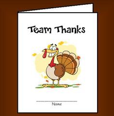FREE Team Thanksgiving Cards - A fun way for students to show appreciation for the members of their team. In this activity, students in teams of four will create greeting cards as a way of sharing positive messages. Each person creates one card and passes it around the team. As the cards are passed, students write compliments and supportive words inside each other's cards.