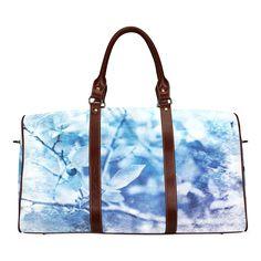 Blueberry Blues Waterproof Travel Bag/Large (Model 1639)