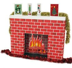 Christmas fireplace with stockings for classroom | Classroom decor ...