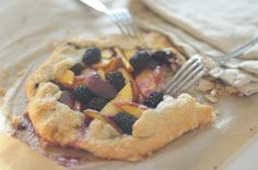 nectarine and blackberry galette