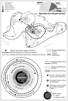 Peuples-monde de la longue durée : Grecs, Indiens, Chinois - Cairn.info - frontières et diasporas Berceau et foyer de l'hellénisme, l'espace central comprend les littoraux qui bordent la mer Égée tant en Grèce qu'en Asie mineure, la Propontide (mer de Marmara) et le Bosphore. Sa limite méridionale passe par les îles de Crète, de Rhodes et de Chypre.