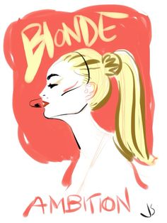 Blonde Ambition. 2012- iPad paintingBought Madonna's Truth or Dare on blu-ray today. Doodled this while watching. I made this using the Brushes app and an adonit jot pro iPad stylus.