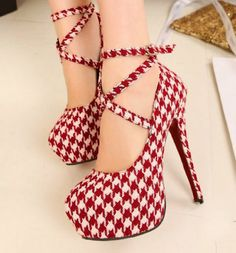 Womens Platform Pumps Sexy Fashion Strappy Buckle Stiletto High Heels Shoes (Red & White, US 5 / EU35) Harshiono,http://www.amazon.com/dp/B00GNPXM5Q/ref=cm_sw_r_pi_dp_4FYWsb1VS8QKYHER