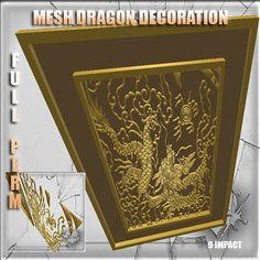 Mesh Decoration Asian Dragon 9 impact Full perm