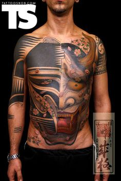 Chest tattoo by Chignori Iwasaki  (i know, not a backpiece, but a crazy front piece)