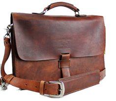 Rustic Destressed Leather Messenger Bag  by WhiteBuffaloRepublic, $173.99