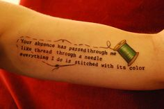 thread tattoo