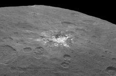 Fresh material is exposed in a rayed crater on Ceres. Taken on June 6 from 2,700 miles (4,400 km), it has a resolution of 1,400 feet (410 meters) per pixel, Credit: NASA/JPL-Caltech/UCLA/MPS/DLR/IDAA rayed crater on Ceres with a great deal of fresh material (ice?) exposed by impact. Credit: NASA/JPL-Caltech/UCLA/MPS/DLR/IDA