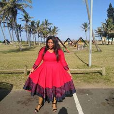 African Fashion Designers, African Fashion Ankara, African Wear Dresses, African Attire, South African Traditional Dresses, Xhosa Attire, Beautiful Dresses, Nice Dresses, Shweshwe Dresses