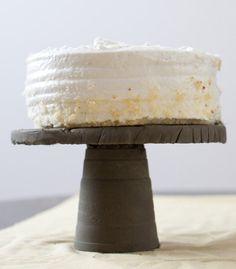 concrete cake stand?  Yep, love it!
