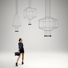 Shop Wireflow Chandelier - 8 LEDs 📎 Diy Pendant Light, Cheap Pendant Lights, Pendant Lamp, Pendant Lighting, Interior Lighting, Modern Lighting, Lighting Design, Lighting Ideas, Futuristic Lighting
