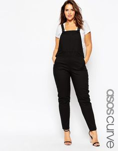 ASOS Curve | ASOS CURVE 90s Style Dungarees at ASOS