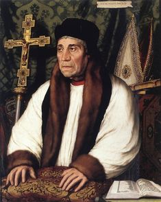 Portrait of William Warham, Archbishop of Canterbury by Hans Holbein the Younger
