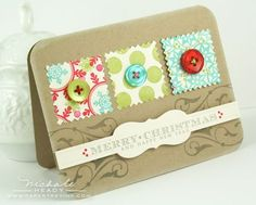 Scrapbooking cards with square punch