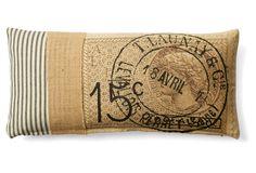 Stamp 10x20 Cotton Pillow, Natural $69.00