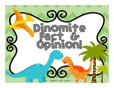 I created this file to help my students distinguish facts and opinions, which they will need to know for Common Core Reading and Writing. This file will help your students practice facts and opinions with a fun dinosaur theme. There are many ways you can utilize this file- either partner, group, or whole class practice.