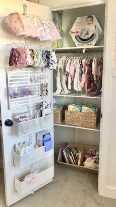 Our Digital Marketing Specialist Rachel Abel takes us inside her baby's tidy storage space Nursery Dresser, Girl Nursery, Girl Room, Nursery Room, Nursery Ideas, Nursery Decor, Baby Room Design, Baby Room Decor, Nursery Design