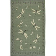 Dragonfly Rug (265 CAD) ❤ liked on Polyvore featuring home, rugs, home decorators collection, earth tone rugs, outside rugs, indoor outdoor area rugs and patio floor covering